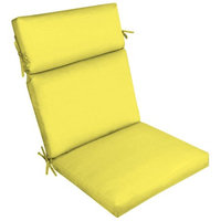 Arden Companies Better Homes and Gardens Outdoor Patio Dining Chair Cushion, Yellow Texture