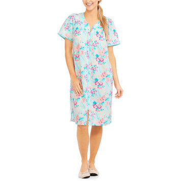 Women's and Women's Plus Sleep Button Up Breakfast Gown