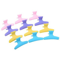 Coobbar 12pcs multifunction Colorful Hair Clips Hairdressing Tool Butterfly Hair Claw Salon Section Clip