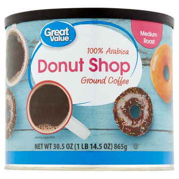 Great Value Donut Shop Ground Coffee, Medium Roast, 30.5 oz