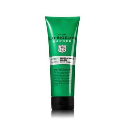 C.O. Bigelow Elixir Green Men's Hair and Body Wash. 8 Oz.