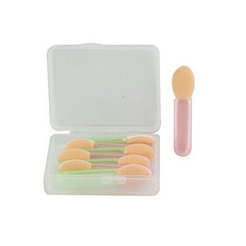 8pcs Beauty Cosmetic Makeup Facial Eyeshadows Tips Sticks Sponge Applicator Brush Cotton Swabs wtih Carrying Case AOSTEK(TM)