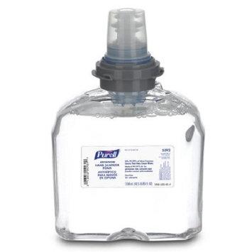 Purell Advanced Hand Sanitizer 1200 mL Alcohol (Ethyl) Foaming Dispenser Refill Bottle CS/2 PK/4