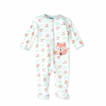 born Baby Girl Footed Sleep 'N Play with Mitten Cuffs