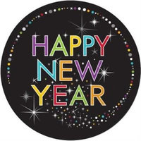 Year's Sparkle 9-inch Plates , 4PK