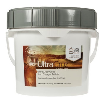 UltraCruz Goat Iron Charge Supplement, 10 lb pellets (215 day supply)