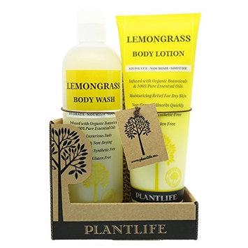 100% Pure & Natural Body Wash & Lotion Combo Set Lemongrass