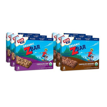 Clif Kid Z Bar Chocolate Chip and Chocolate Brownie Value Pack Organic Energy Bar, 36 Count [Value Pack]