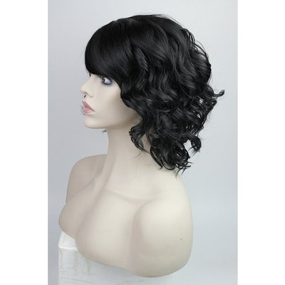Women's Short Curly Wig Fashion Full Hair Wig