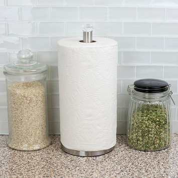 Free-Standing Paper Towel Holder with Faux Crystal Top
