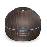 Anjou 350 ml Essential Oil Diffuser Wood Grain Aromatherapy Diffuser Ultra-Quiet Operation (BPA-free, Up to 8H Use, Waterless Auto Shut-Off)