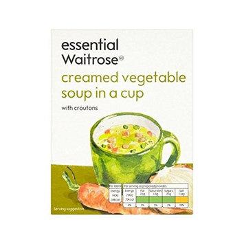 Creamed Vegetable Cup Soup essential Waitrose 4 x 18g