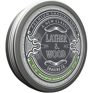 her & Wood Shaving Soap - Woodsy Scent - Simply the Best Luxury Shaving Cream - Tallow - Dense Lather with Fantastic Scent for the Worlds Best Wet Shaving Routine. 4.6 oz (Pacific Northwest)