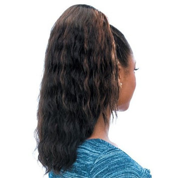 SUPER WAVE (1 Jet Black) - Model Model Glance Synthetic Hair Drawstring Ponytail