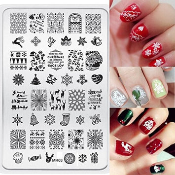 Hot Nail Art ! AMA(TM) 2016 Christmas DIY Nail Art Image Stamp Stamping Plates Manicure Template