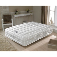 Memory Foam and Pillow-Top, Happy Beds Anti Bed Bug 2000 Pocket Spring Medium Tension Mattress with Reflex and Latex Foam - 4ft Small Double (120 x 190 cm)