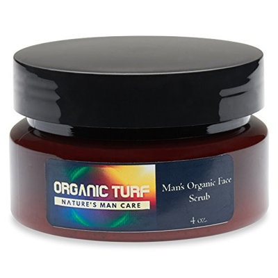 Man's Organic Face Scrub (4oz.), USDA Certified Organic (98.25%), 100% Natural, Active Botanicals, Antioxidants and Essential Oils from...