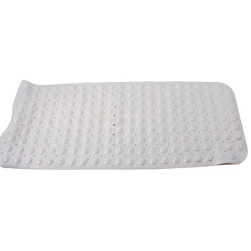 Exquisite Extra Large Rectangular Bath Mat with Bubble Print White