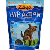 Zukes 0693051 Hip Action Daily Hip and Joint Support Treat For Dogs Beef - 1 lb