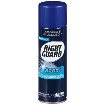 Right Guard Sport Antiperspirant & Deodorant Aerosol Powder Dry 6.0 oz.(pack of 6)
