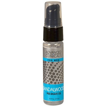 Advanced Clinicals Mens Preshave oil. Ultimate lubrication with tea tree oil, sandalwood and lavender oil.9oz