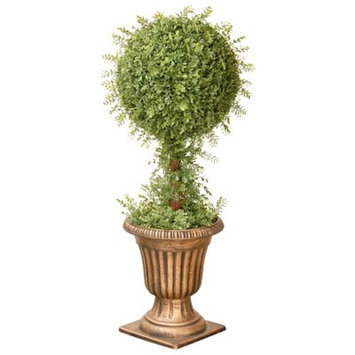 Mini Tea Leaf 1-Ball Topiary in Urn (36