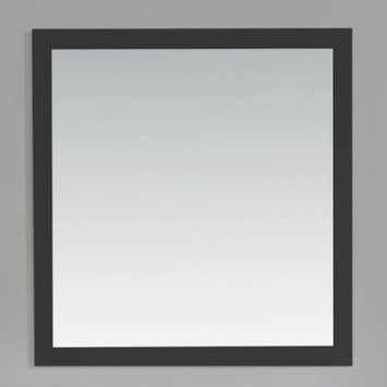 Simpli Home Chelsea 34 in. L x 32 in. W Wall Mounted Decor Vanity Mirror in Black