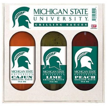 Hot Sauce Harry's Hot Sauce Harrys 4924 MICHIGAN STATE Spartans Grilling Gift Set 3- 12oz