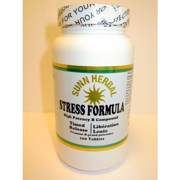 Stress Formula Timed Release High Potency B Compound 120 Tablets