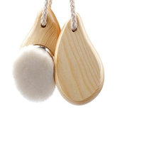 NUOLUX Facial Cleansing Brush Wooden Handle Facial Cleanser Massager