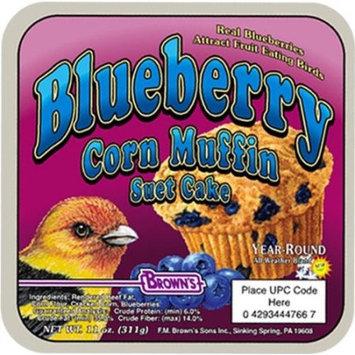 Fm Browns Sons Inc Brown's Garden Chic! Blueberry Corn Muffin Suet Cake Bird Food, 11 Oz