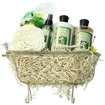 Essence of Jasmine Bathtub Spa Bath and Body Gift Basket Set [Jasmine]