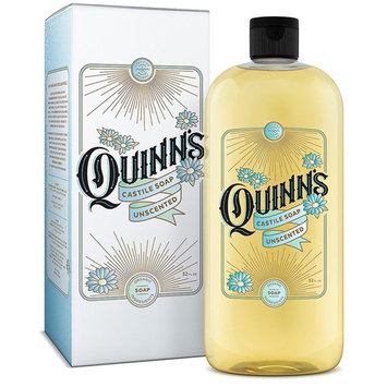 Quinn's Pure Castile Organic Liquid Soap, Baby Unscented, 32 oz