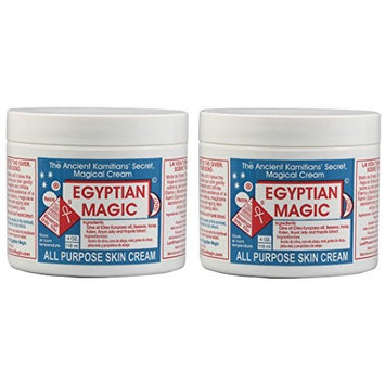Egyptian Magic All Purpose Skin Cream (Pack of 2) with Beeswax, Honey, Royal Jelly, and Olive Oil, 4 oz.