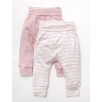 Agabang giggle Organic Cotton Baby Pants - Heathered Pink 2-Pack