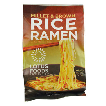 Lotus Foods Ramen Soup Mix Millet & Brown Rice -- 2.8 oz pack of 12