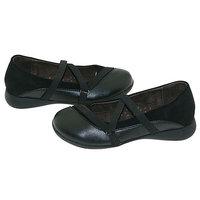 L'Amour Black Strappy Ballet Flat Shoes Toddler Little Girls 7-4