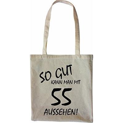 Mister Merchandise Tote Bag So gut kann man mit 55 aussehen! Jahren Jahre Shopper Shopping, Color Schwarz [Black]