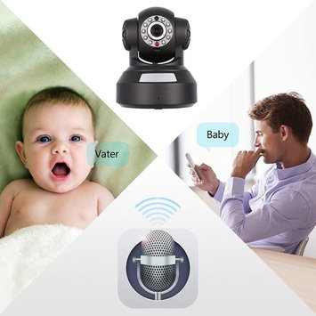 Baby Monitor Night Vision and Detection HD 720P WIFI Camera US Wired LAN Cable or WIFI Connection Camera DEAML