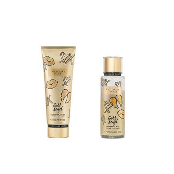 Victoria's Secret Showtime Fragrance GOLD ANGEL Body Mist & Lotion 2pc