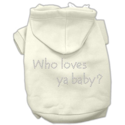 Mirage Pet Products 5482 SMCR Who loves ya baby? Hoodies Cream S 10