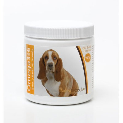 Healthy Breeds 840235142386 Basset Hound Omega 3 & 6 Soft Chews - 60 count