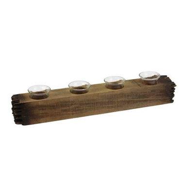 Benzara Decorative 4 Light Candle Log