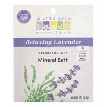 Aura Cacia Calming Lavender Mineral Bath Packet, 2.5-Ounce packet, (Pack of 3)