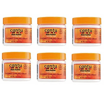 [ TRENDING TRAVEL SIZE PACK OF 6] CANTU SHEA BUTTER COCONUT CURLING CREAM 2 OUNCE: Beauty