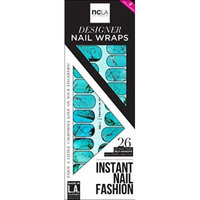 NCLA Designer Nail Wraps - Truth in Turquoise - Includes 26 Ultra Thin Self-Adhesive Wraps and Nail File