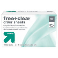 Free Clear Dryer Sheets, 240ct - up & up™