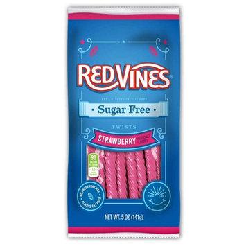Red Vines Strawberry Sugar Free Vines - 5 oz. bag, 12 per case