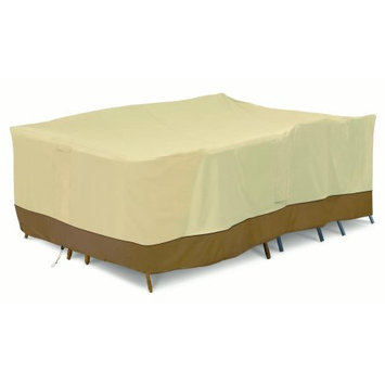 Classic Car Accessories Classic Accessories Verandaâ ¢ Full Coverage Conversation Set/General Purpose Patio Furniture Cover - Durable and Water Resistant Outdoor Furniture Cover, Large (55-883-041501-00)