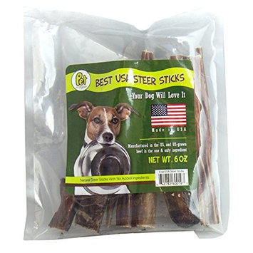Pet Magasin [Sourced & Made in USA] Bully Sticks Dog Treats - Natural Steer Sticks for Dogs [6 Inches]